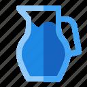 cooking, drink, food, glass, milk, pitcher, restaurant icon