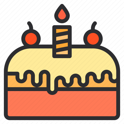 birthday, cake, cream, dessert, sweet icon