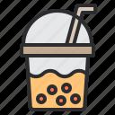 bubble, cake, cream, dessert, sweet, tea icon