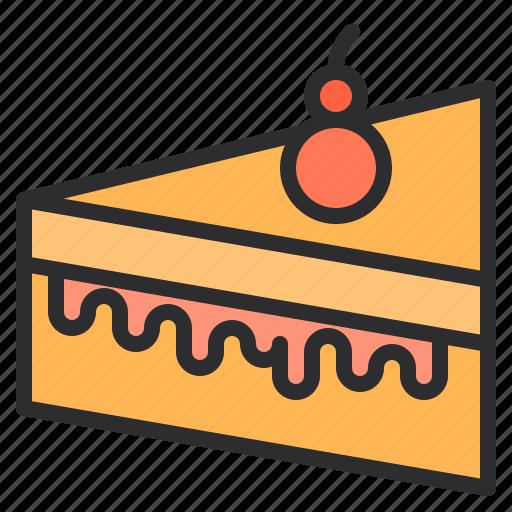 cake, cream, dessert, sweet icon