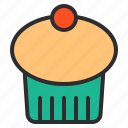 cake, cream, cupcake, dessert, sweet icon