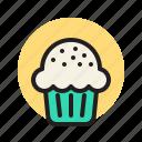 cupcake, cake, sweet, dessert, bakery