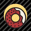 donut, doughnut, bakery, sweet, dessert