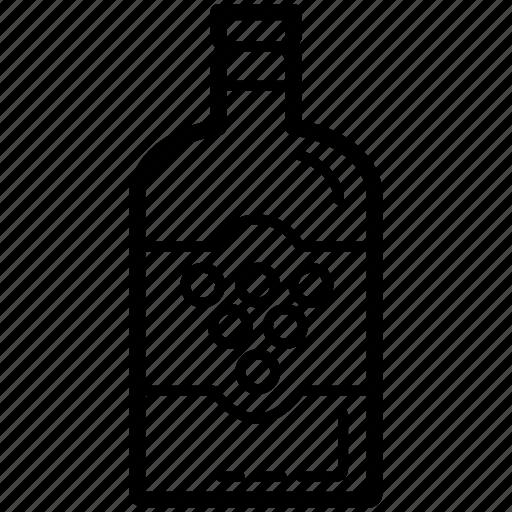 beverage, bottle, celebration, container, glass, wine icon