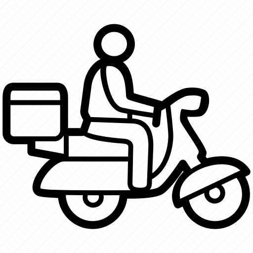 delivery efod moped motorcycle outbreak service icon