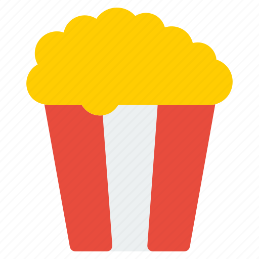 film, food, meal, movie, popcorn, restaurant, video icon
