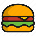burger, cooking, fast, food, kitchen, meal, restaurant icon