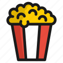cinema, film, food, meal, movie, popcorn, sweet icon
