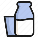 drink, food, glass, health, healthy, milk, sweet icon
