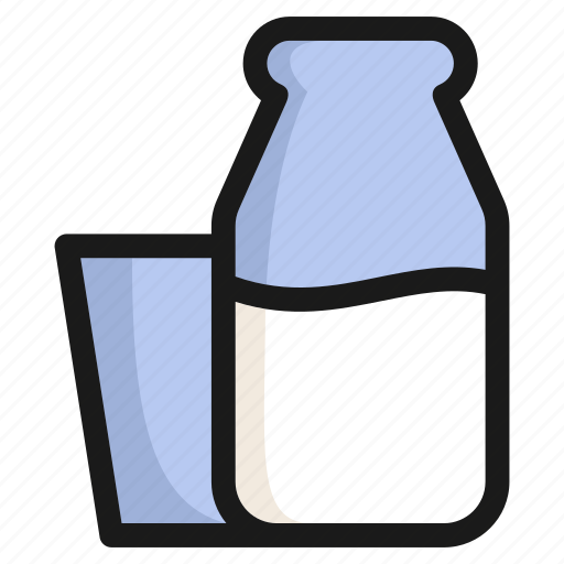 drink, food, glass, health, healthy, milk, sweet icon
