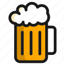 food, beer, drink, brewery, glass, alcohol, bottle icon