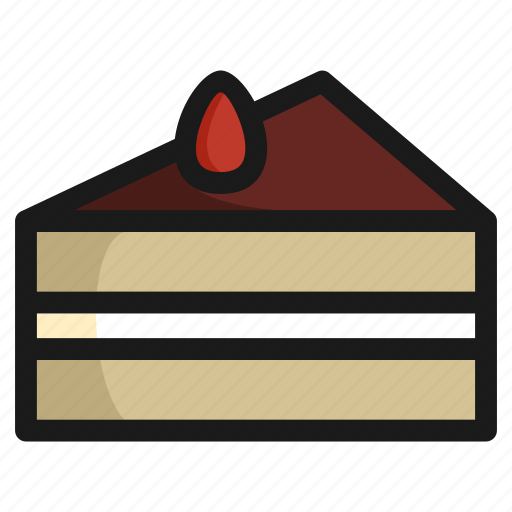 cake, chocolate, dessert, food, meal, restaurant, sweet icon