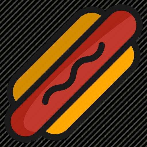 eat, fast, food, hotdog, kitchen, meal, sausage icon