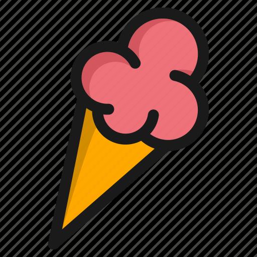 cone, cream, dessert, food, ice, icecream, meal icon
