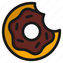 chocolate, dessert, donut, eat, food, meal, restaurant icon