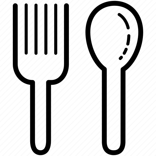 cutlery, fork, silverware, spoon, tableware icon