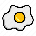chicken, egg, fried, omelet, omelette icon