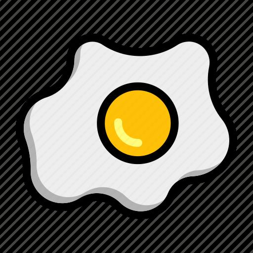 chicken, egg, fried, omelet, omelette icon
