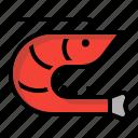 crustacean, decapod, food, seafood, shrimp icon
