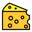 cheddar, cheese, dairy, fat, food, product icon