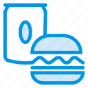 burger, drink, food, junk, soda icon