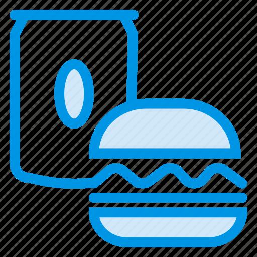 burger, drink, food, junk, soda icon