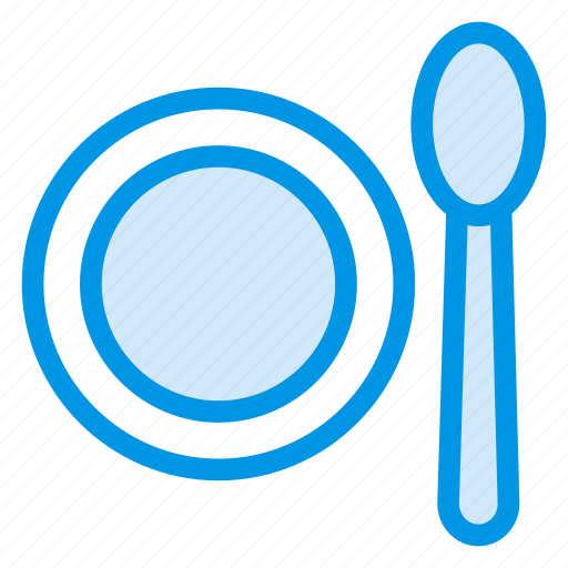 dish, food, meal, plate, spoon icon