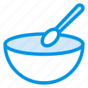 bowl, food, meal, soup, spoon icon