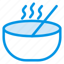 bowl, food, service, soup, spoon icon