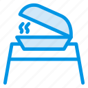 bakery, cooking, food, platter, service icon