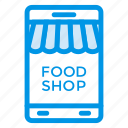 commerce, mobile, shop, shopping icon