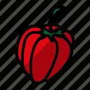 food, fruits, paprika, vegetable icon