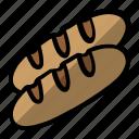 bread, cake, food, long bread