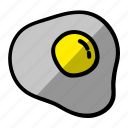 eggs, food, fried egg icon