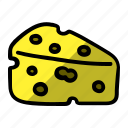 bread cake, cheese, food icon