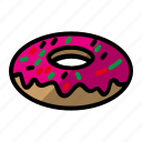 bread, cake, donut, food icon