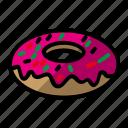 bread, cake, donut, food