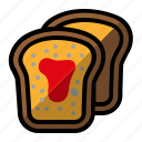 bread, cake, food icon
