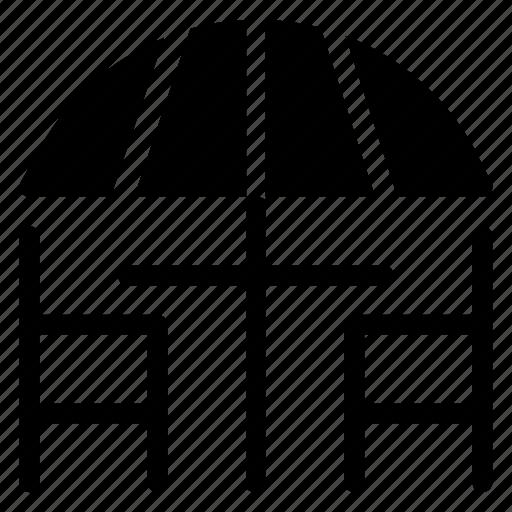 chair, hotel, service, table, umrella icon