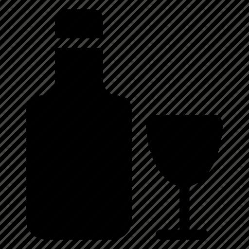 alchohol, bar, bottle, drink, glass, wine icon