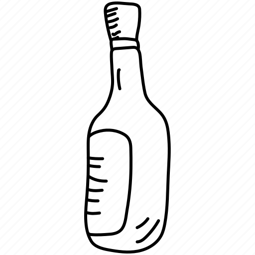 bottle, label, wine icon