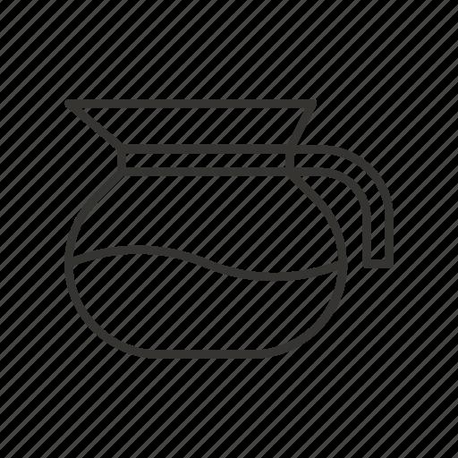 ewer, jug, kitchen, pitcher, pot, tool, water icon