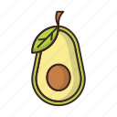 avocado, food, healthy, vegetable icon