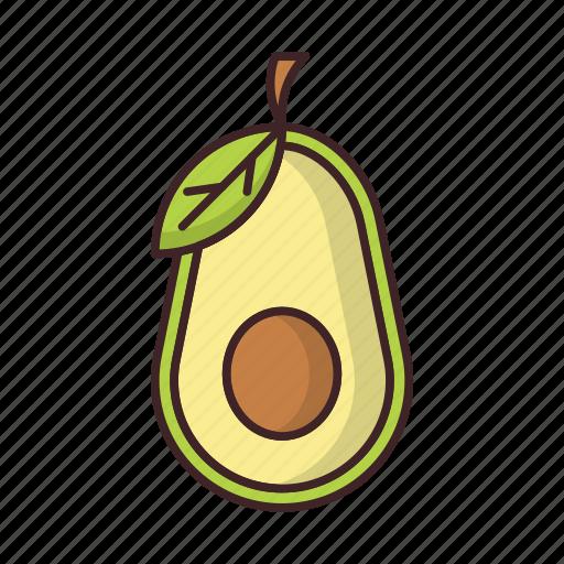 avocado, food, healthy, vegetable icon