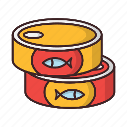 banned, can, canned, food, goods icon