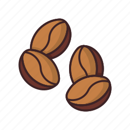 beans, coffee, coffee beans, hot, seed icon