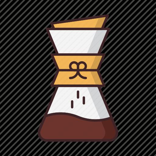 brew, chemex, coffee, filter, kemeks icon