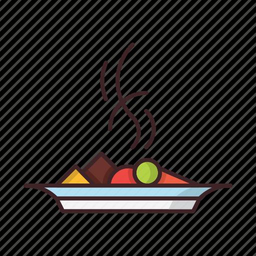 dish, food, restaurant, vegan, vegetables icon