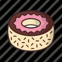 bakery, dessert, donut, doughnut, fondant, food, frosting icon