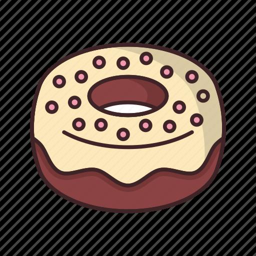 bakery, dessert, donut, doughnut, fondantsugar, food icon